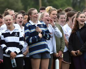 Arana College students support their team mates during the sports day. Photos: Peter McIntosh
