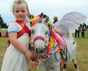 Michaela Argyle (4) with pony Super Syd, of Winton.