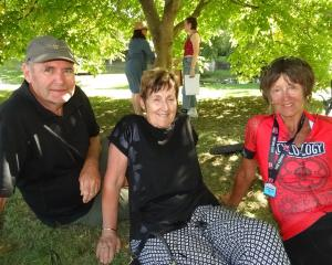 Trevor and Maureen Horan, of Cambridge, and Heather Allison, of Whangaparaoa Peninsula.