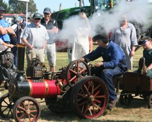 A scaled-down traction engine was a drawcard for visitors. Photos: Toni Williams