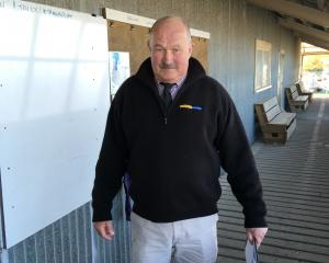 Level 2 conditions...NZ Farms stock agent Peter Jackson personally made sure those in attendance...