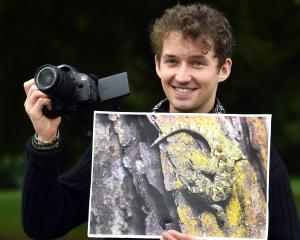 University of Otago postgraduate wildlife management student Samuel Purdie, the overall winner of...