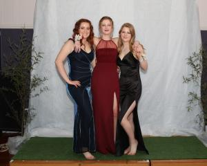 Grace Arnesen, Holly Pringle and Greer Orchard.