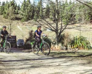 Electric bikes make the ride very easy. PHOTOS: TOURISM CENTRAL OTAGO / JAMES JUBB