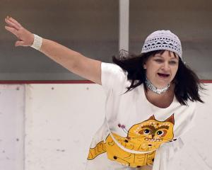 Glenda Bronkhorst, of theAllegro Ice Dance Club, competes in the adult interpretive silver II...