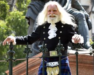 Matt Ryan, of Dunedin, enjoys the St Andrew's Day festivities yesterday.