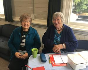 Judith Earl-Williams (left) and Frances Smith have been volunteering for more than 50 years as...