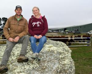 Earnscleugh Station owners Duncan and Amanda Campbell relax after their 36th Annual Bull Sale...