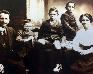 William and Rua Lawrence and their three sons,  Douglas, Jack and Gordon. PHOTO: SUPPLIED