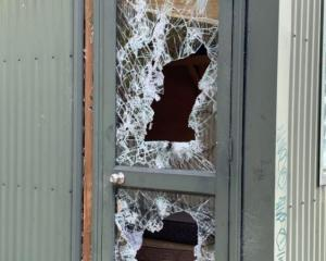 Two tiny houses were extensively damaged by vandals in Albert Town. Photo: Supplied