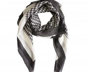 Redcurrent Houndstooth silk scarf, $48