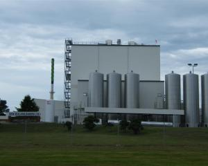The New Zealand Dairies plant at Studholme, South Canterbury. Photo by Sally Brooker.