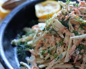 Celeriac slaw. Photo: Simon Lambert