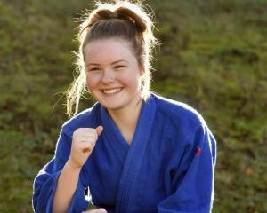 Otago Girls' High School martial artist Alaina Baker is quickly making a name for herself. Photo...