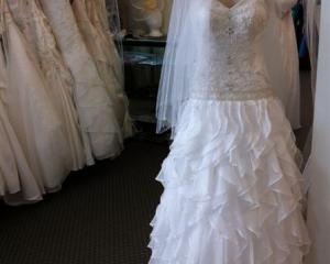 Bridal gown at House of Kavina, Caversham, Dunedin
