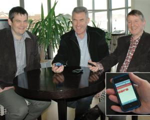 (From left) Hayden Bell, John MacDonald and Graeme Bell.