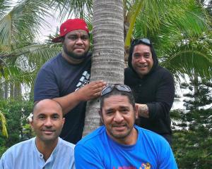 (From left) Hiliako Iaheto, Andrew Sione, Pos Mavaega and Rangitakau Tekii in New Caledonia....