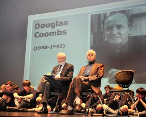 "Inducted into King's High School ""Wall of Fame""  this week were Hugh Templeton (seated, left),..."