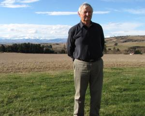 John Gibson  on his Patearoa property,  which looks out over the Maniototo where the Otago...