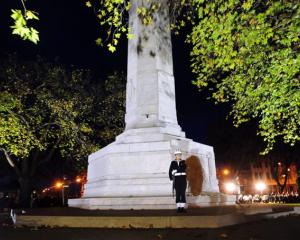 About 3000 people converged on Queens Gardens in Dunedin for the annual dawn service at the...