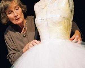 Actress and singer Helen Moulder is Playing Miss Havisham on tour at the Arrowtown Athenaeum Hall...
