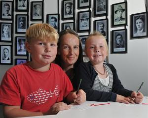 Aimee Baird and her children, Ryan (10)  and Breana (7), of Milton, at  Toitu Otago Settlers...