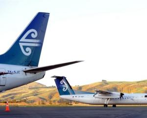 Air New Zealand aircraft at Dunedin International Airport earlier this year. Photo from <i>ODT</i...