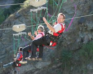 AJ Hackett Bungy senior managers (from left) chief executive Dave Mitchell, board member Andy...
