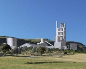 Artist's impression of the proposed Holcim cement factory at Weston. Image supplied.