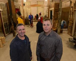 Athenaeum owner Lawrie Forbes (left) and Farley's Arcade: The Wildest Place in Town producer...