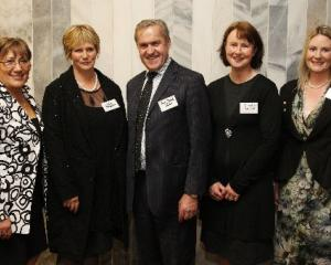 Attending the launch of the Agri-Women's Development Trust in Wellington last week are...