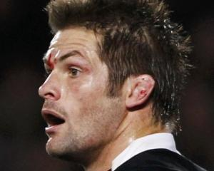 Back, on the bench . . . Richie McCaw.