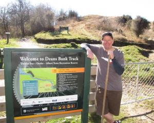 Bike Wanaka Inc president Mark Gould and other club members regularly maintain the Deans Bank...