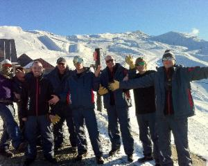 Cardrona's car-parking crew counts down for the skifield's opening day tomorrow.  Photo by Lake...