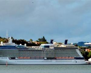 Celebrity Solstice, of the cruise ships that regularly visit Dunedin, docks at the Beach St wharf...