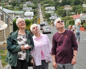 Celebrity Solstice passengers (from left) William  and Marguerite Moody, Lucille and Jackie...