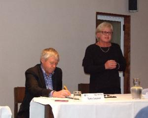 Central Otago mayoral candidates, incumbent Tony Lepper and challenger Lynley Claridge, on the...
