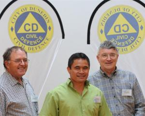 Christchurch area civil defence and emergency managers (from left) Murray Sinclair (Christchurch...