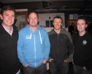 Damian Petre, Hayden Finch, Dave Fahey, all of Queenstown, and Nigel Smith, of Dunedin.