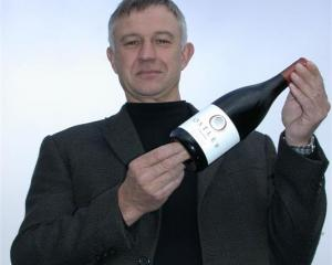 Dr Jim Jerram with the Ostler Vineyards' first vintage