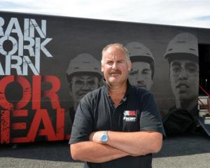 Duncan O'Keefe (front) and Tony Doake, were in Dunedin to recruit infrastructure workers for the...