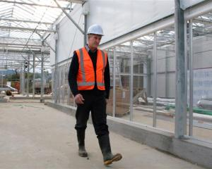 Dunedin Botanic Garden team leader Alan Matchett takes a stroll around the new propagation...