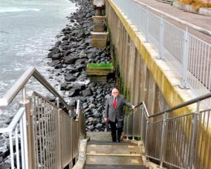 Dunedin City Council transportation operations manager Graeme Hamilton climbs one of the...
