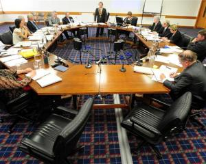 Dunedin Mayor Peter Chin fires a parting volley at his critics while addressing councillors near...