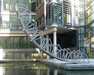 Examples of the work of contemporary British designer  Thomas Heatherwick. The Rolling Bridge,...