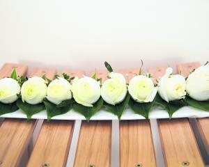 Flowers of the wedding of Jenna Mitchell and Jeremy Hayes. CARMEN HANCOCK PHOTOGRAPHY.
