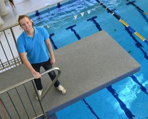 Former Otago diver and now Olympic judge Simon Latimer back on the high board at Moana Pool,...