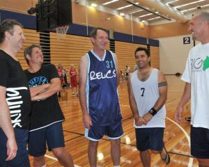 Former Tall Blacks (from left) Andrew Parke, Chris Simpson, Ian Webb, Chris Tupu and Konrad Ross...