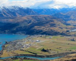 Frankton Flats and the Queenstown Airport from above. Photo by ODT.