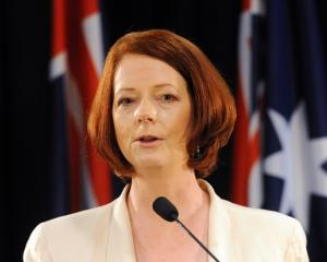 Gallipoli bound . . . Julia Gillard.